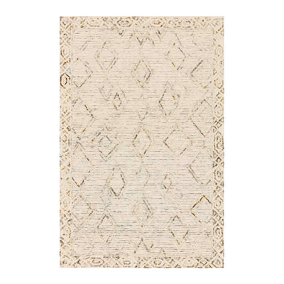 The Andora Ivory/Lagoon Rug is inspired by abstract shapes in a free-hand design.