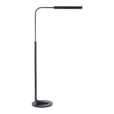 The Austin Adjustable Floor Lamp has a sleek and minimalist style with a dark, aged iron finish. Minimalistic reading or task lighting.