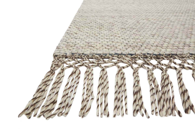 Calacatta Ivory Rug fringe, texture, and colour details. Hand-loomed in India.