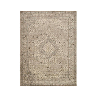 The Beaufort Rug offers a traditional design with a distressed pattern in colours Sand and Ivory.