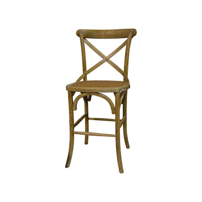 The Abbotsford Bar Stool is a solid wood bistro-style bar stool in a natural washed finish.
