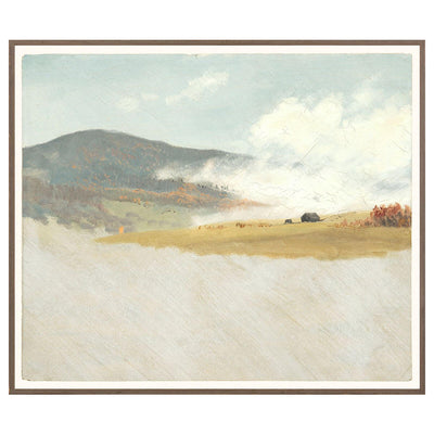 Hillside Journey is a painted landscape wall art in soft, neutral colours.