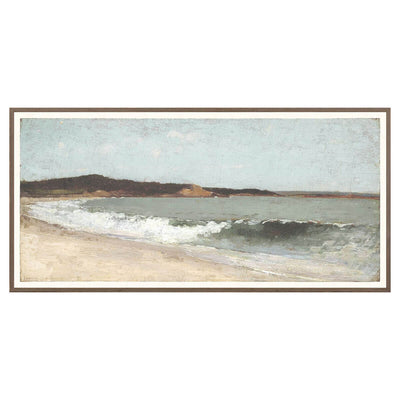 Seascapes is a historical painting of the ocean in a soft, neutral colour palette.
