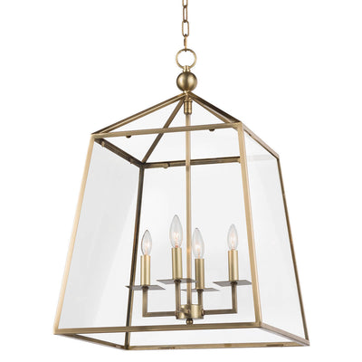 Delft Lantern. Traditional brass lantern. Contemporary lantern with glass and brass finish.