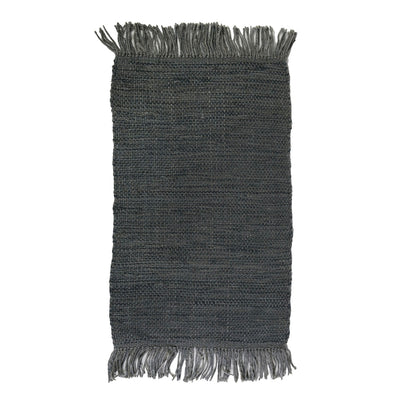 100% jute woven rug in a blue grey color. Versatile rug for an entrance, bedroom, living room.