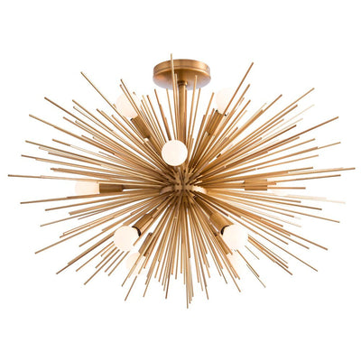 With its starburst design, the Callaway Chandelier will make a statement in any room. It's even suitable for lower ceilings.