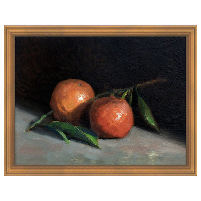 Fruit Life 3 is a reproduction canvas of a fruit still life painting with a moody vibe.