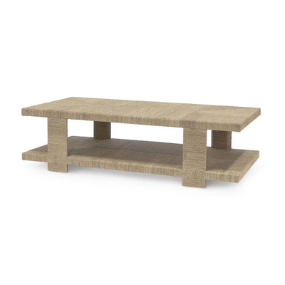 The Albay Coffee Table is made with a hardwood frame wrapped in abaca rope for a natural look.