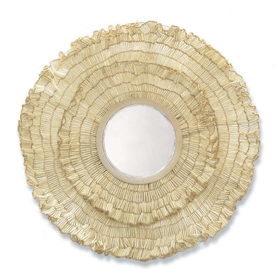The Port Maria Mirror is a bevelled mirror with coco wood and bead details for an organic coastal feel.