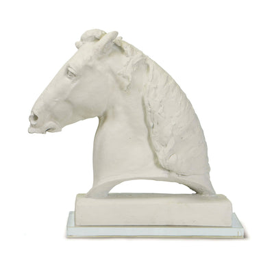Horse head sculpture inspired by 19th century sculpture.