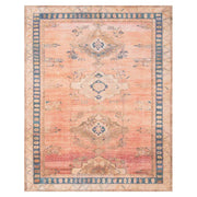 The Bayonne Sunset / Indigo Rug is an affordable, warm coloured rug with a tradition diamond pattern.