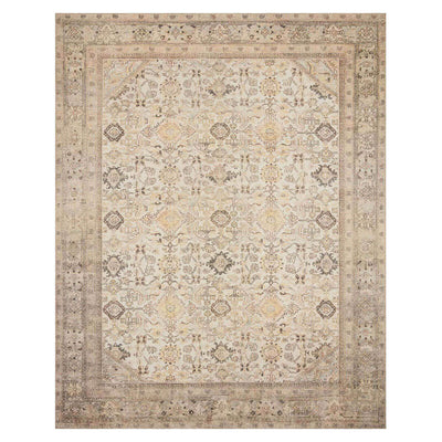 The Bayonne Cream / Latte Rug is a timeless, affordable rug with a traditional, worn pattern.