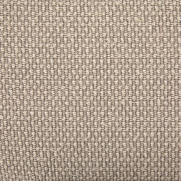 Closeup of the colour and texture in the oatmeal upholstery.