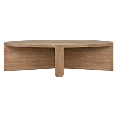 Natural washed walnut wood coffee table.
