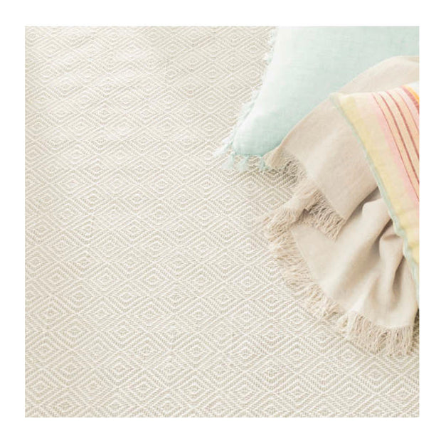 Textural diamond rug. Fade resistant rug for indoor and outdoor spaces.