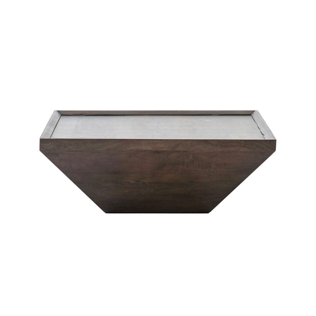 Square Coffee Table in Coal Grey.