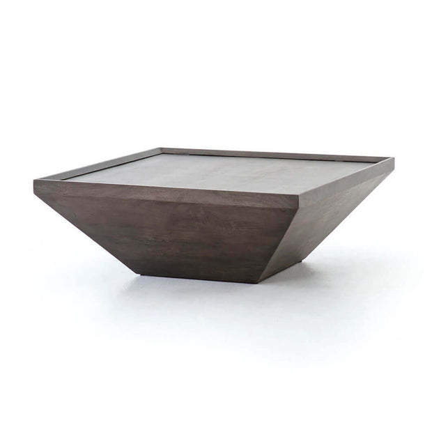 Square Coffee Table in Coal Grey