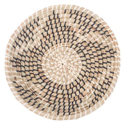 Abstract patterned decorative wall basket.