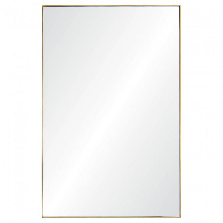 The floor to ceiling St. Augustine Mirror has a gold-leaf frame.