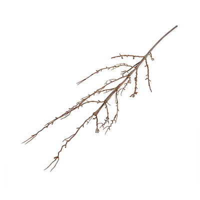 Faux decorative forsythia branch for styling.