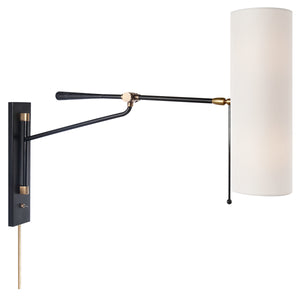 Frankfort Articulating Wall Sconce Light Black