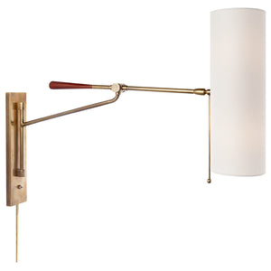 Frankfort Articulating Wall Sconce Light Antique Brass