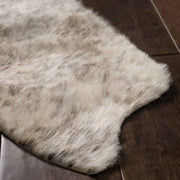 The Arizona Grey / Ivory cowhide rug texture detail.