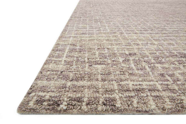 Atrani Smoke Rug details. Hand hooked wool rug. Made in India.