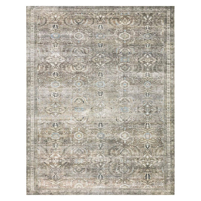 Affordable antique moss rug with floral patterns.