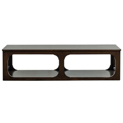 The Ponce Coffee Table is made of alder wood in a dark espresso finish.