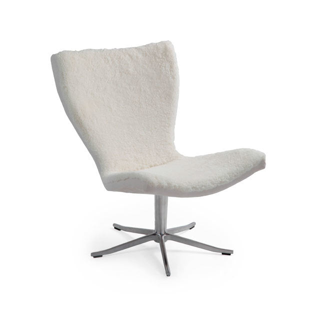 White Sheepskin Office Chair