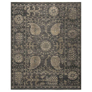 Rosetta Taupe Rug. Traditional Serapi rug. Antique inspired rug. Dark patterned rug.