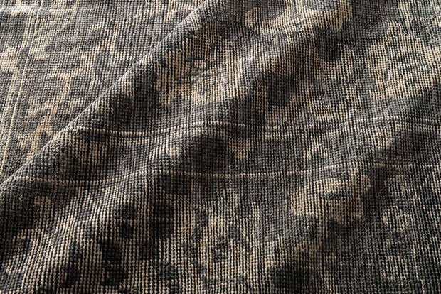 Hand-knotted, wool rug. Rosetta Taupe Rug. Dark taupe rug.