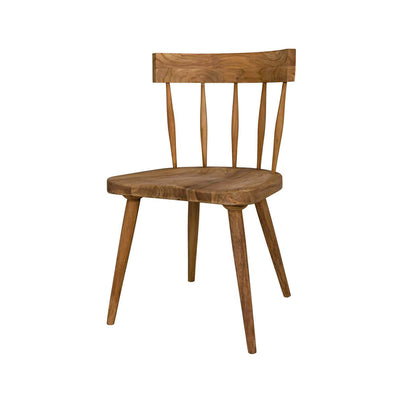 Classic teak wood dining chair.