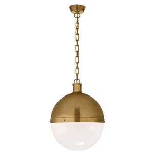 Hicks Globe Brass Pendant Large