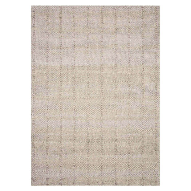 Dakota Beige Rug. Neutral beige living room rug with subtle stripe.