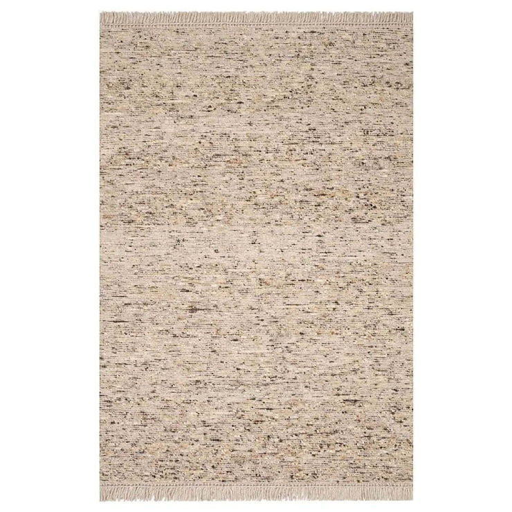 Nevada Fawn Rug. Light brown heathered wool rug.
