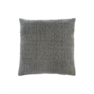 Stonewashed grey pillow.