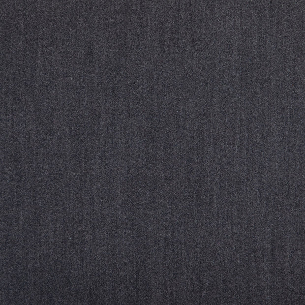 Dark misty blue grey fabric on upholstered dining chair.