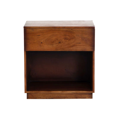 Solid acacia wood nightstand.