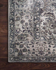 Traditional pattern of the Garda Taupe / Stone Rug. Taupe and stone rug with patina. Light brown and grey rug.