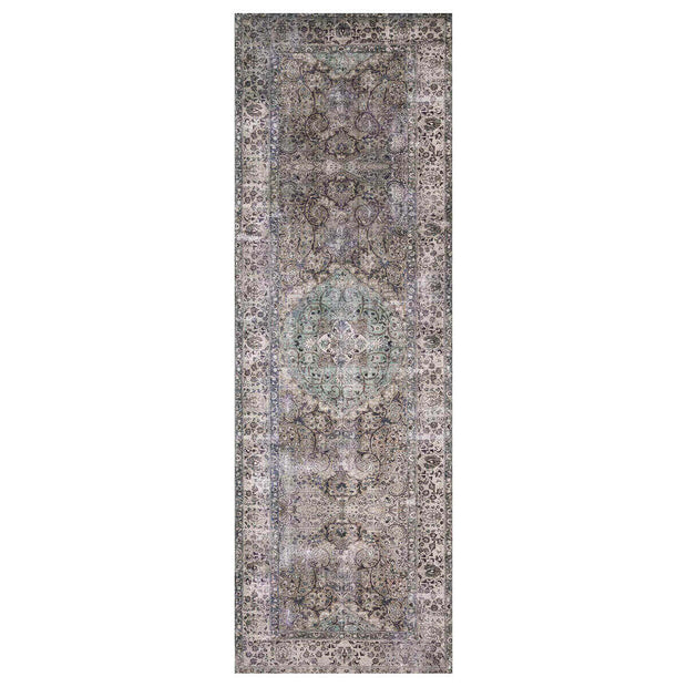 Garda Taupe / Stone Runner. Light brown and grey runner. Traditional pattern runner.