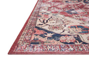 Colours and pattern of the Florence Rust / Ivory Rug. Affordable patterned rug.