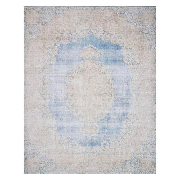 Florence Light Blue / Sand Rug. Light blue and brown patterned rug. Affordable Turkish rug.
