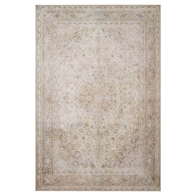 Lille Sand / Taupe Rug. Neutral sand and taupe rug with a vintage inspired look.