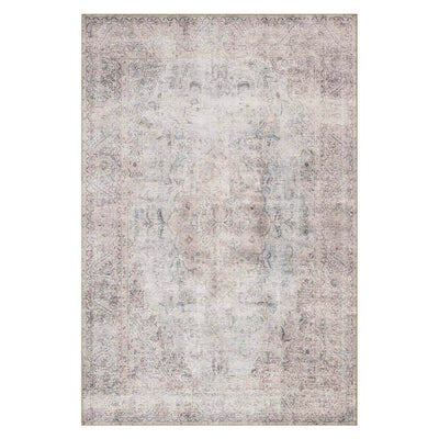 Lille Silver / Slate Rug. Silver and slate neutral rug with a vintage inspired look.