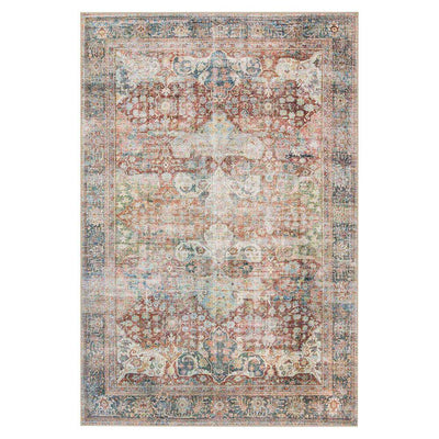Lille Brick / Multi Rug. Multicoloured Turkish rug. Affordable, printed rug.