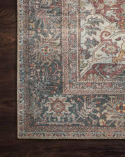 Floral pattern rug. Turkish rug. Vintage looking rug.