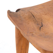 Reclaimed natural teak stool.