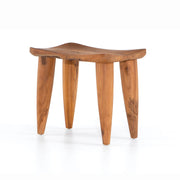 West African inspired aged teak stool.